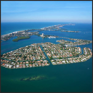 Bird Key Neighborhood real estate aerial