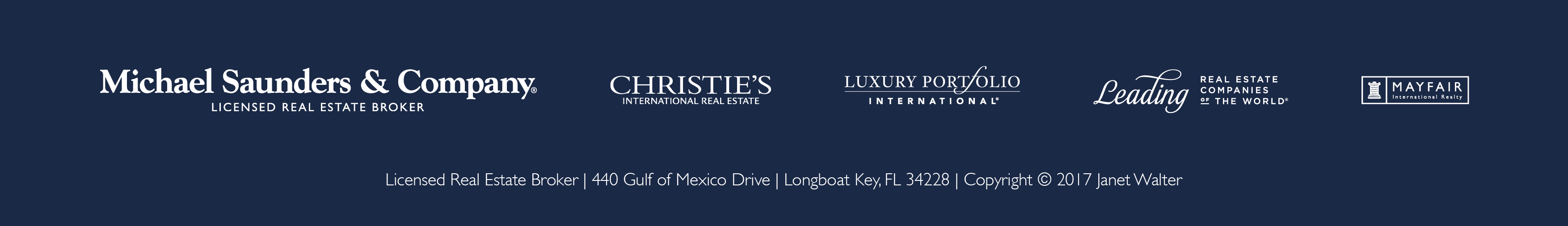 Walter Group Luxury Real Estate Footer